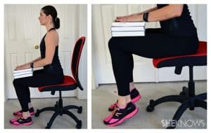 Seated toe raises